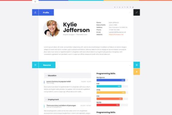 ShiftCV - Blog Resume Portfolio WordPress 1