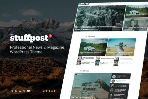 StuffPost - Professional News & Magazine WordPress 1