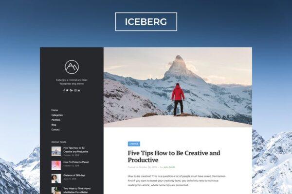 Iceberg - Clean & Modern WordPress Blog Theme 1