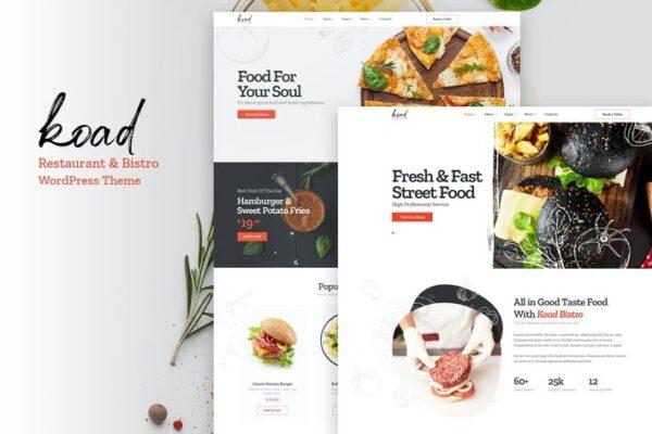 Koad - Restaurant & Bistro WordPress Theme 1