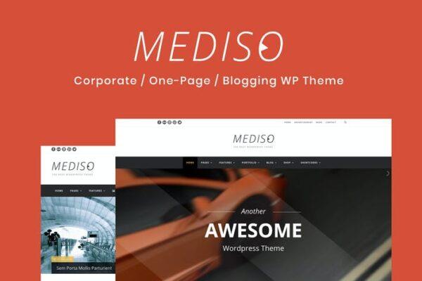 Mediso - Corporate / One-Page WordPress Theme 1