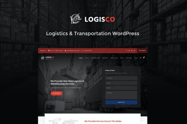 Logisco - Logistics & Transportation WordPress 1