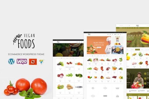 Vegan - Organic Store WooCommerce WordPress Theme 1
