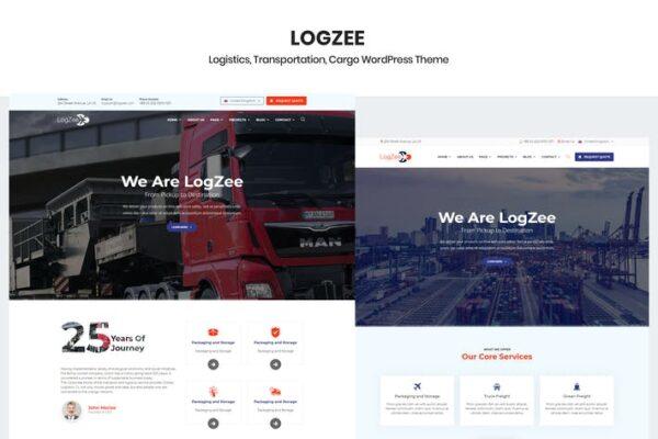 Logzee - Logistics Cargo WordPress Theme 1