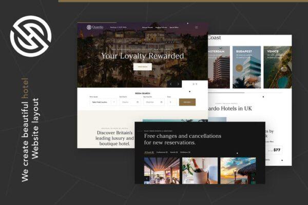 Quardo - Deluxe Hotels WordPress Theme 1