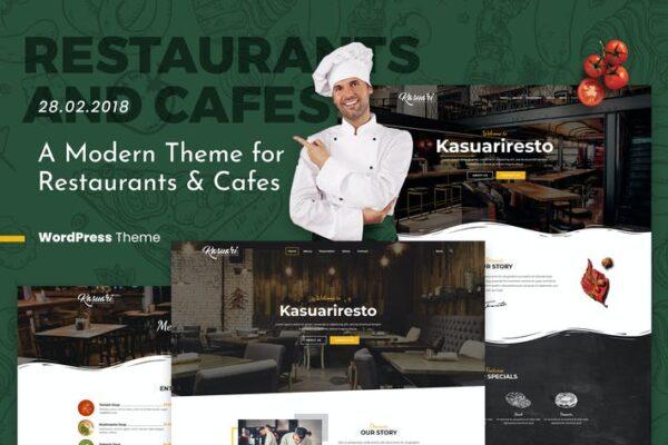 Kasuari - Restaurants and Cafes WordPress Theme 1