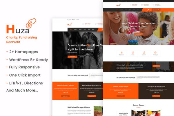 Huza - Charity/Fundraising WordPress Theme 1