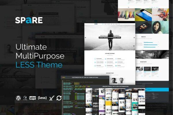 Spare - Ultimate MultiPurpose LESS Theme 1
